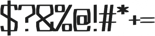 Acrylic regular otf (400) Font OTHER CHARS