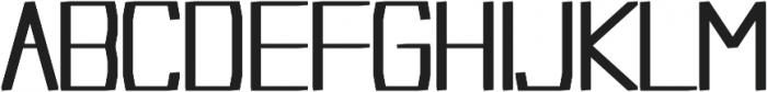 Acrylic regular otf (400) Font UPPERCASE