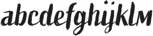 Active One otf (400) Font LOWERCASE