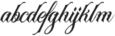 Acuentre Regular otf (400) Font LOWERCASE