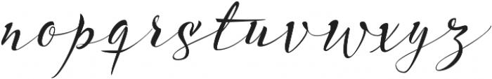 Acustica Script otf (400) Font LOWERCASE