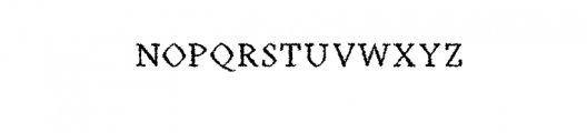 Achazia-Distorted.otf Font UPPERCASE
