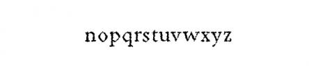 Achazia-Distorted.otf Font LOWERCASE