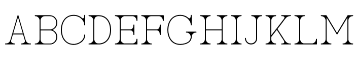 AC Big Serif One Font UPPERCASE