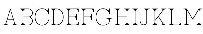 AC Big Serif One Font LOWERCASE