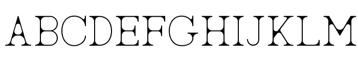 AC Big Serif Two Font UPPERCASE