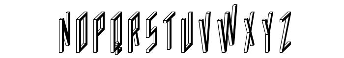 AC Framed Inverted Font UPPERCASE