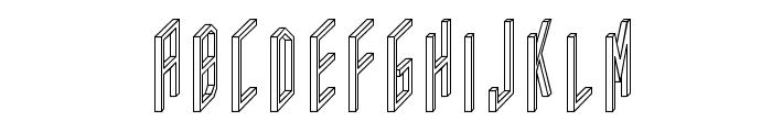 AC Framed Outline Font UPPERCASE
