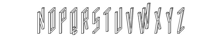AC Framed Outline Font LOWERCASE