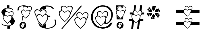 AC3 Hearts2 Font OTHER CHARS
