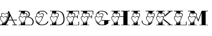 AC3 Hearts2 Font UPPERCASE