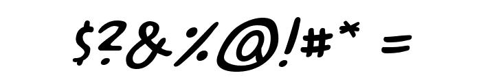 ACME Secret Agent BB Italic Font OTHER CHARS
