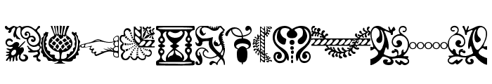ACaslonOrnamentsModified Font UPPERCASE