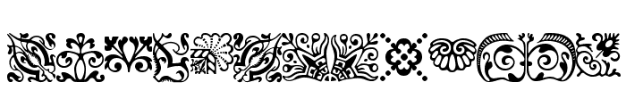 ACaslonOrnamentsModified Font LOWERCASE