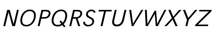 Acari Sans Italic Font UPPERCASE