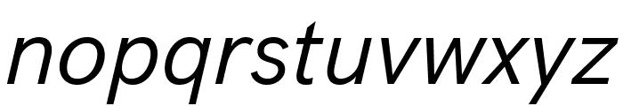 Acari Sans Italic Font LOWERCASE