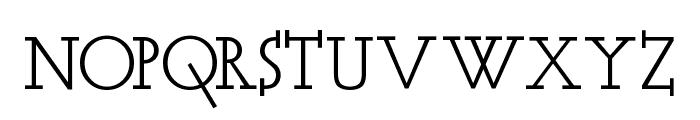 Acca Set Font UPPERCASE
