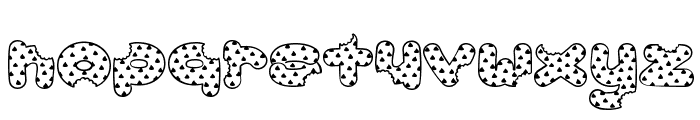 Accent Cookie Dough Font LOWERCASE
