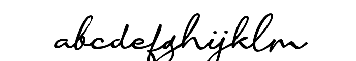 Accountant Signature Font LOWERCASE