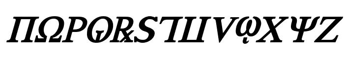 Achilles Bold Italic Font UPPERCASE
