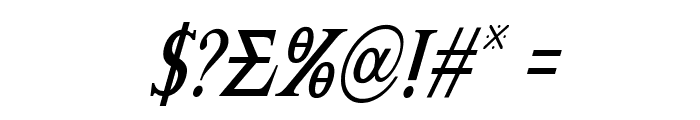 Achilles Condensed Italic Font OTHER CHARS