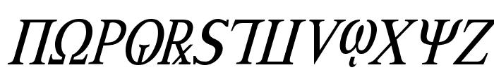 Achilles Condensed Italic Font UPPERCASE