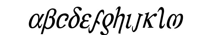 Achilles Condensed Italic Font LOWERCASE