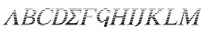 Achilles Gradient Italic Font UPPERCASE