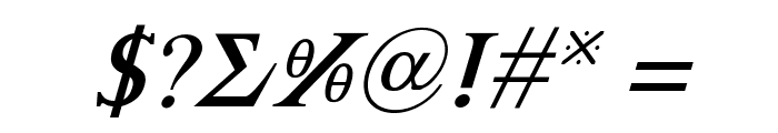Achilles Italic Font OTHER CHARS