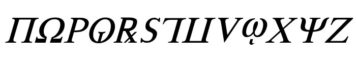 Achilles Italic Font UPPERCASE