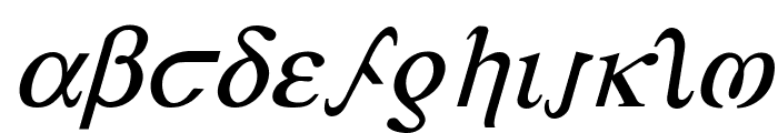 Achilles Italic Font LOWERCASE