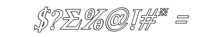 Achilles Outline Italic Font OTHER CHARS