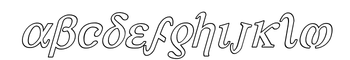 Achilles Outline Italic Font LOWERCASE