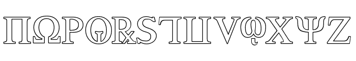 Achilles Outline Font UPPERCASE