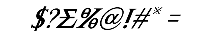 Achilles Super-Italic Font OTHER CHARS