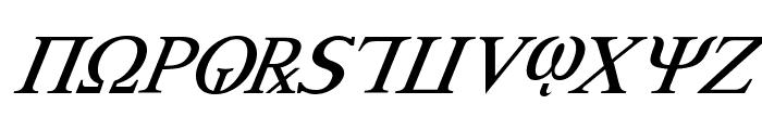 Achilles Super-Italic Font UPPERCASE