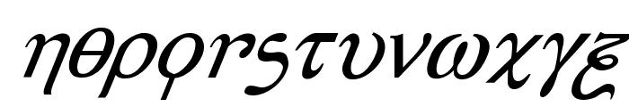 Achilles Super-Italic Font LOWERCASE