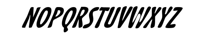 Acid Beans BlackItalic Font UPPERCASE