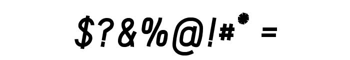 Acid-BoldItalic Font OTHER CHARS