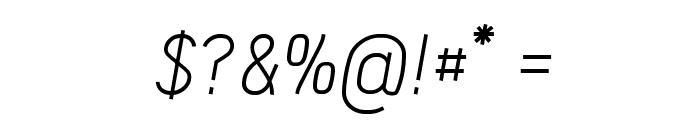 Acid-Italic Font OTHER CHARS
