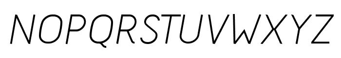 Acid-Italic Font UPPERCASE
