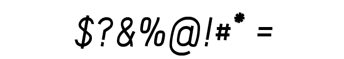 Acid Medium Italic Font OTHER CHARS