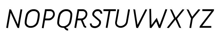 Acid-MediumItalic Font UPPERCASE