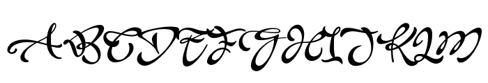 Acryle Script Personal Use Font UPPERCASE