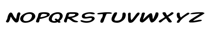 Action Man Extended Italic Font LOWERCASE
