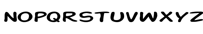 Action Man Extended Font LOWERCASE