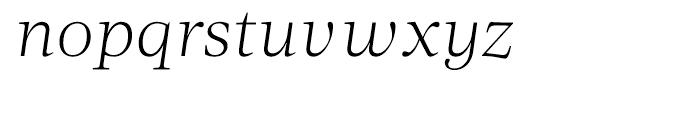 Acta Light Italic Font LOWERCASE