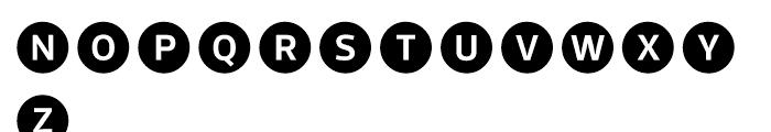 Acta Symbols Circles Font UPPERCASE