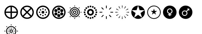 Acta Symbols Circles Font LOWERCASE