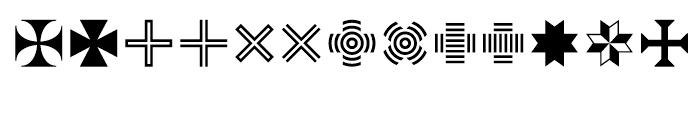 Acta Symbols Flowers Font LOWERCASE